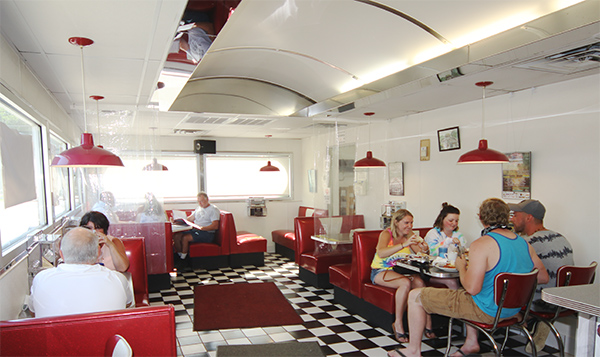Interior of the diner